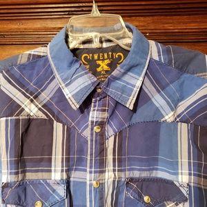 Twenty X Western Pearl Snap Shirt XL